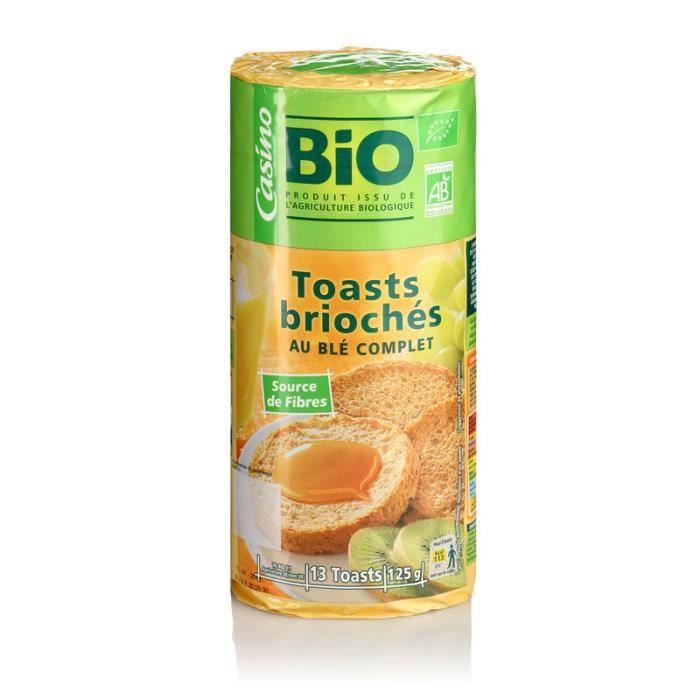 Toast brioché bio - 125g