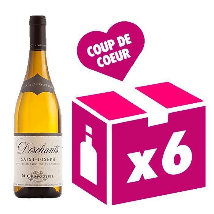 Saint Joseph Deschants vin blanc 6x75cl Chapoutier