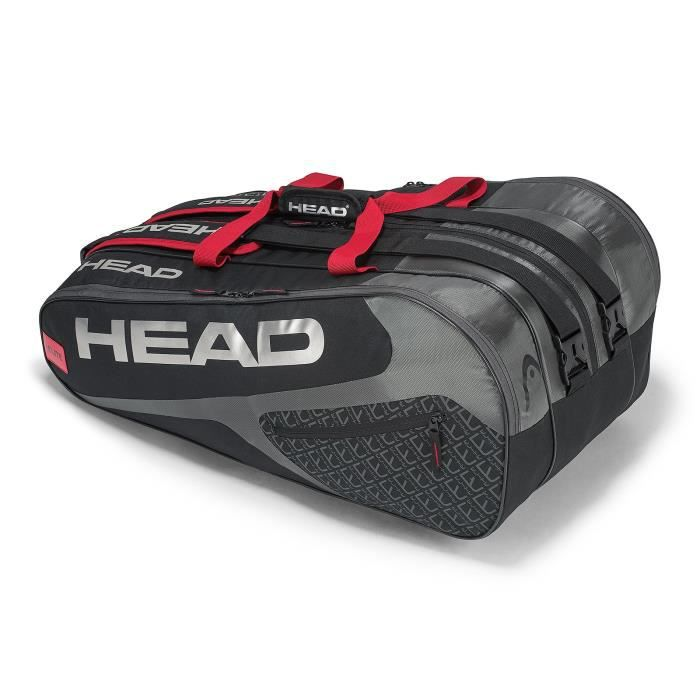 HEAD Elite 12R Monstercombi Sac à Sac de raquette de tennis N-A noir-rouge