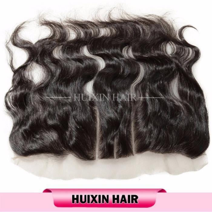 13x4 frontals lace closure Bresilien cheveux naturel body wave 16 pouces,100% humains cheveux