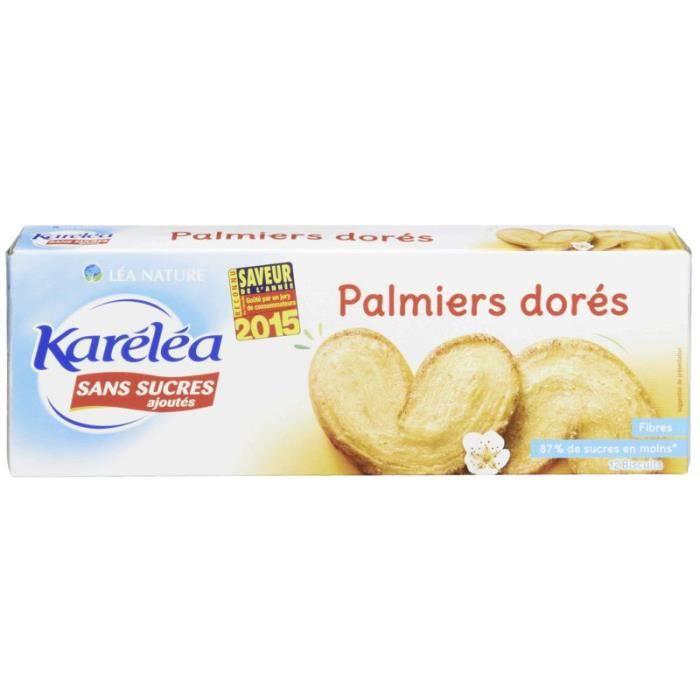 KARELEA Palmiers - Sans sucre ajouté - 100 g