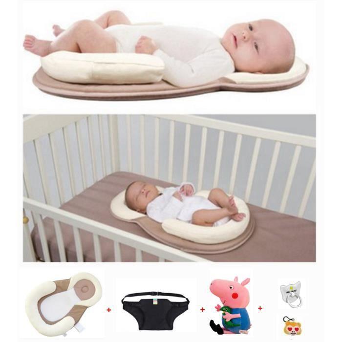 Nid de Bébé, Réducteur de Lit, Baby Pod, Support de Sommeil Ergonomique Réducteur de Lit Oreiller de sommeil côté bébé