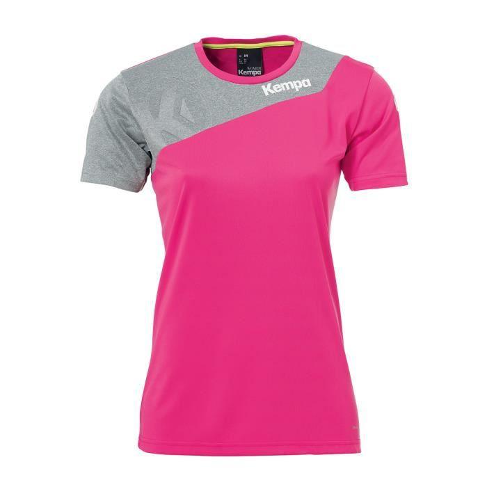 Maillot de handball Kempa Core 2.0 Shirt Women coloris Magenta - Gris foncé chiné
