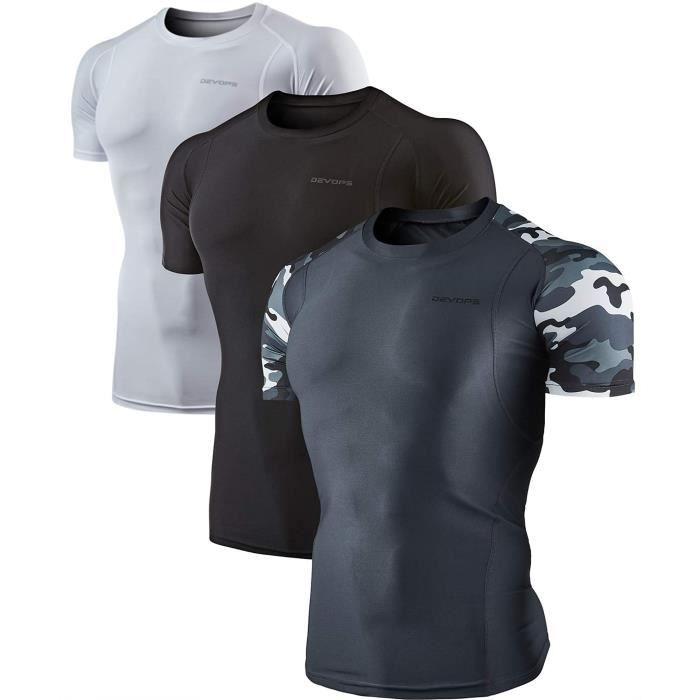 Sweatshirt JZDIG 23 Cool Pack Athletic Dry manches courtes Compression Baselayer T-shirts d'entraînement Taille-S