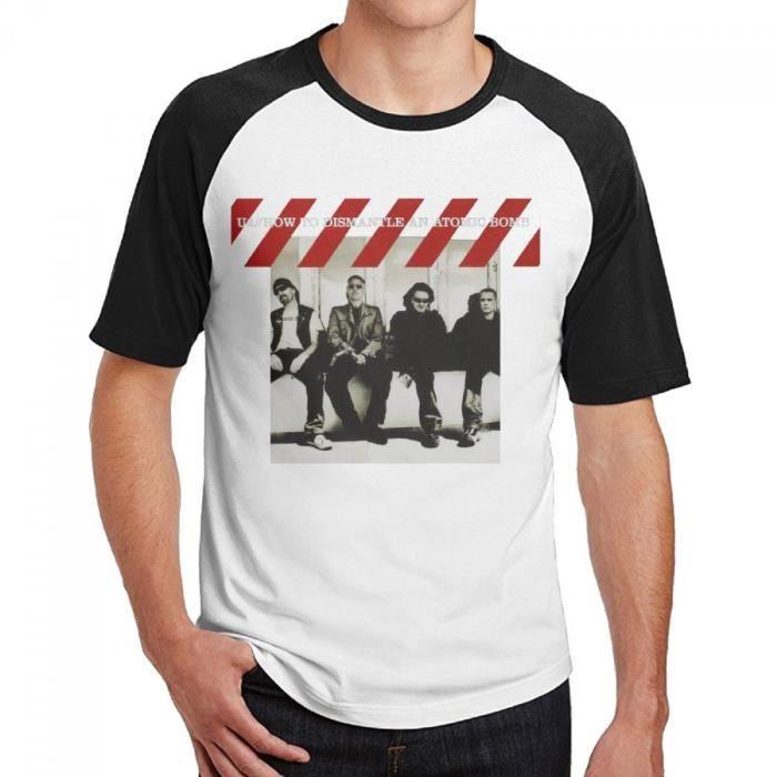 U2 How To Dismantle An Atomic Bomb Homme Col rond Coton Manche courte T-shirt de Baseball