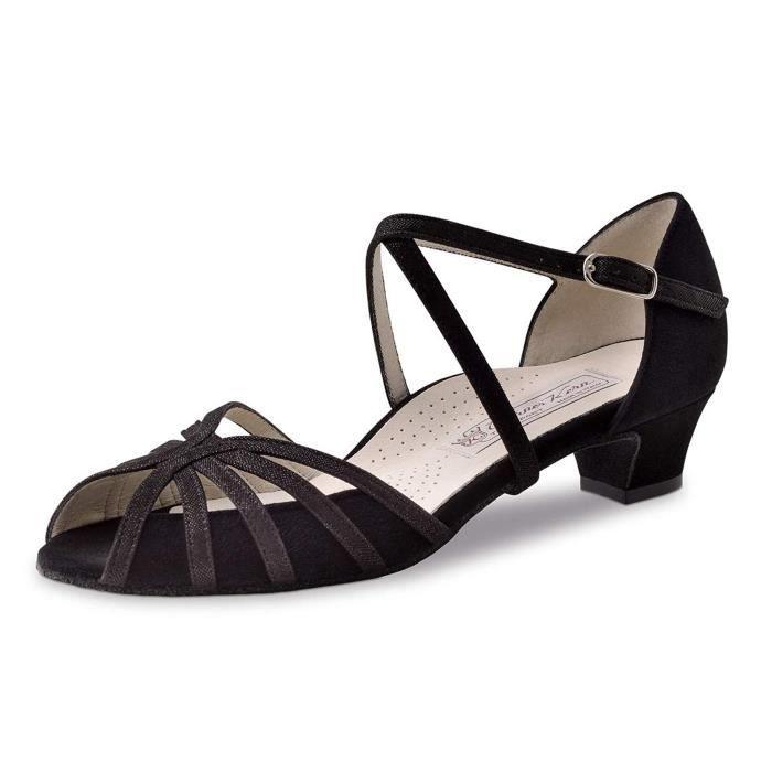 Sandale De Randonnee VHFZR Chaussures de danse Tomke - Couleur: Noir - Made in Italy Taille-39 1/2