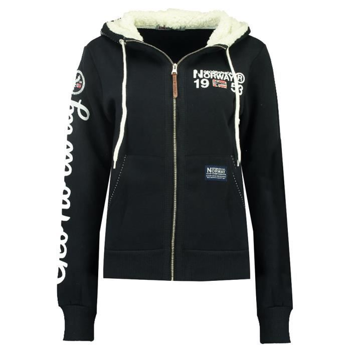 Sweat zippé marine femme Geographical Norway Furedal