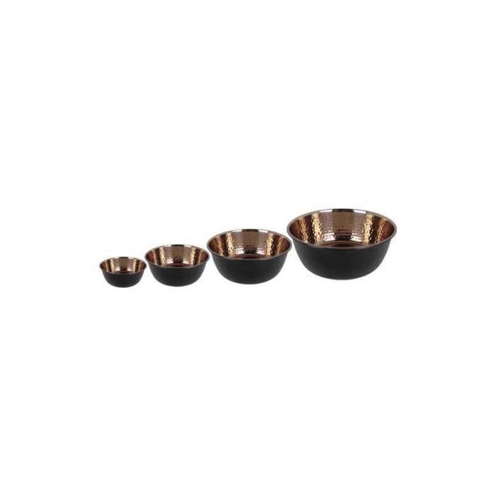 Gamelle en inox design effet cuivre martelé ailles (S, M, L,,, et 1 à 120) : S