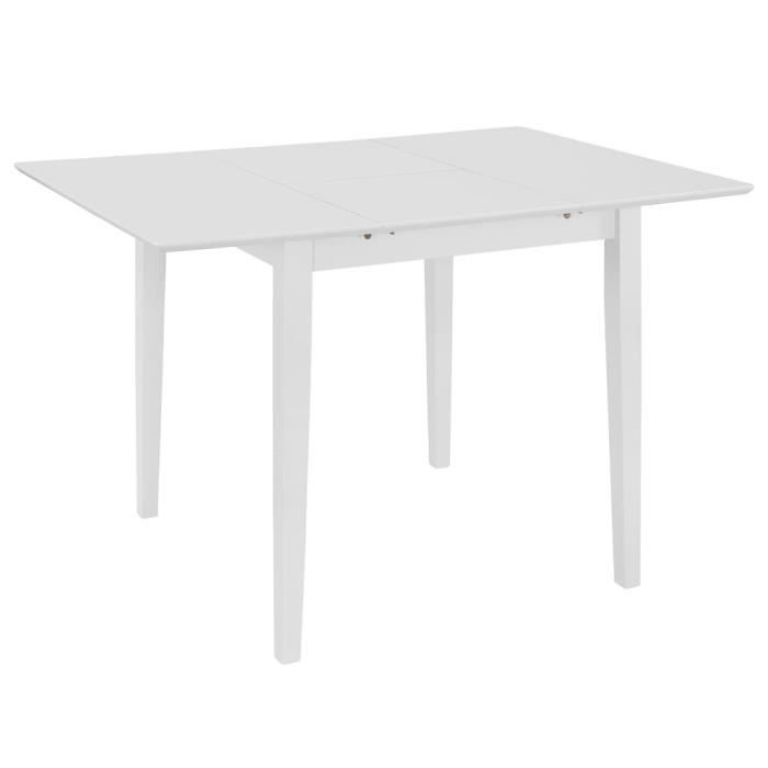 Table à dîner extensible Table à Manger Seule Blanc (80-120) x 80 x 74 cm MDF