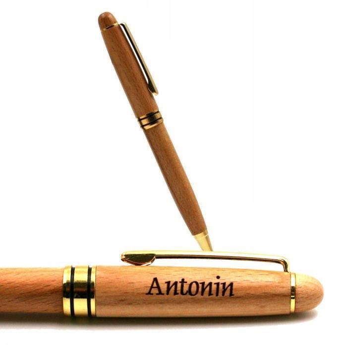 Antonin - Stylo Prénom en Bois Modèle 2
