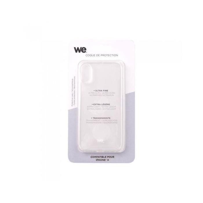 Coque de protection pour iPhone X Transparent