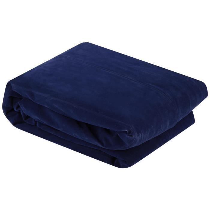 ZJCHAO lit gonflable Chaise longue gonflable en forme de S canapé-lit d'air pour le camping intérieur ou extérieur (bleu)