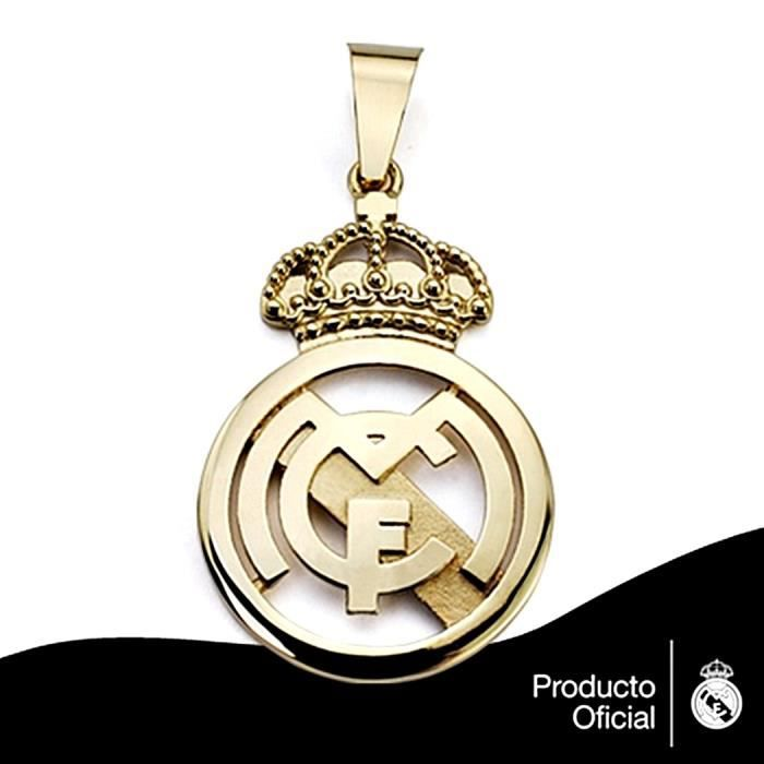 Pendentif écusson Real Madrid or massif 18k 35mm. fundido