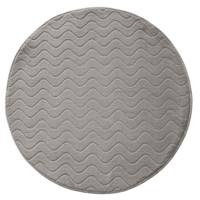 tapis rond imitation fourrure 90cm zibeline gris achat. Black Bedroom Furniture Sets. Home Design Ideas