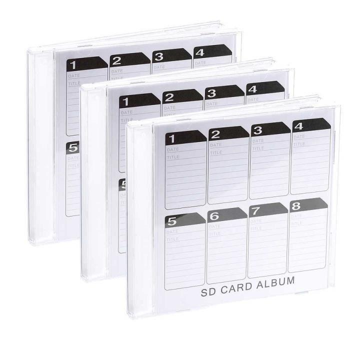 Boite De Rangement Pour Cartes Sd Format Cd X3 Achat Vente Carte Memoire Cdiscount