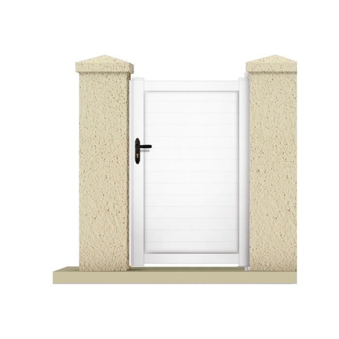 Portillon atlas m pvc coloris blanc achat for Portillon de jardin blanc