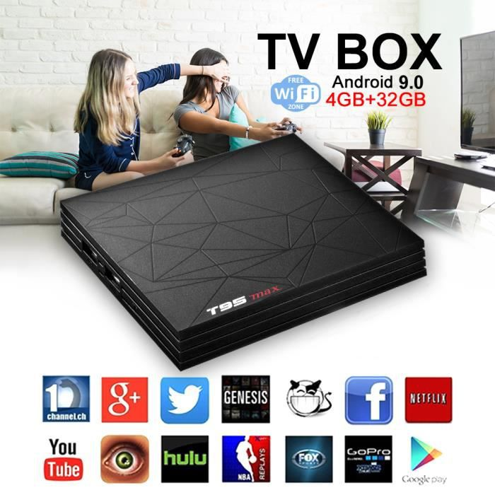 BOX MULTIMEDIA T96 Max H6 Chipset 4G RAM 32G ROM Wifi Android 9.0