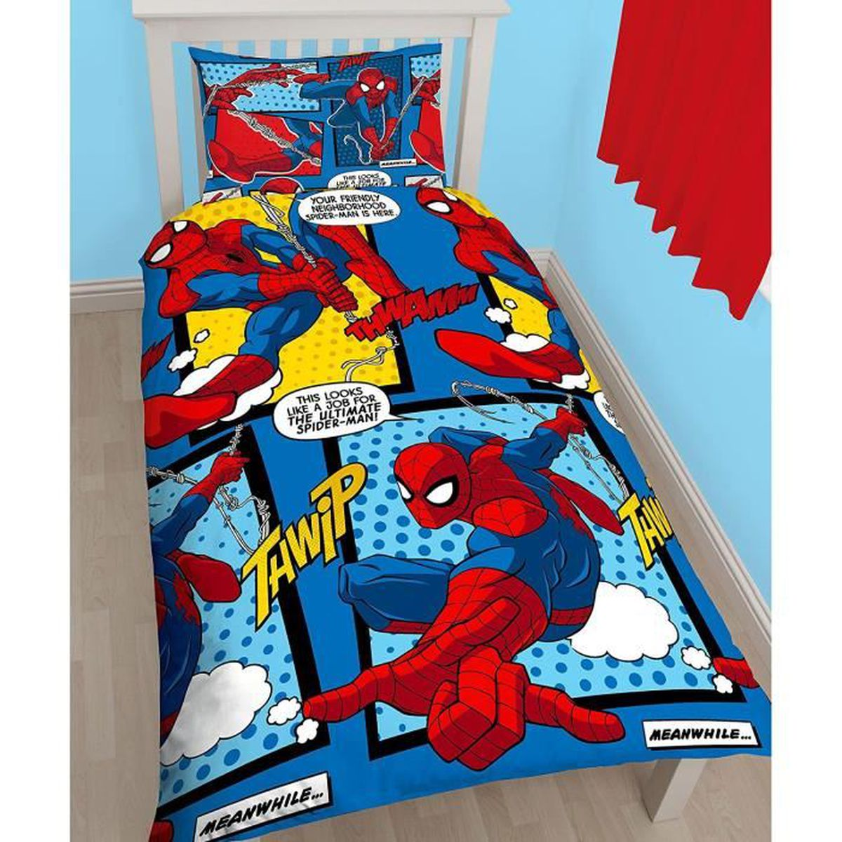 lit spiderman achat vente lit spiderman pas cher les soldes sur cdiscount cdiscount. Black Bedroom Furniture Sets. Home Design Ideas