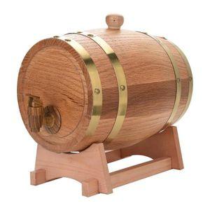 CITERNE - CUVE - FUT - JERRYCAN 3L Tonneau à vin en bois de chêne pour bière et wh
