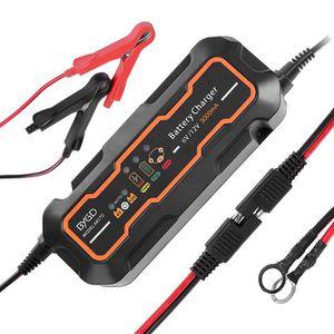 CHARGEUR DE BATTERIE Chargeur de Batterie pour Voiture 6/12V 5A, Mainte