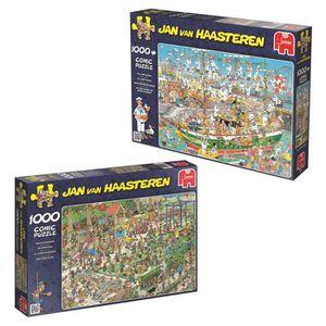 PUZZLE Pack 2 puzzles 1000 pièces : Jan Van Haasteren ail