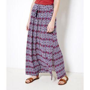 JUPE Camaïeu - Longue jupe imprimée femme - FILON PRINT