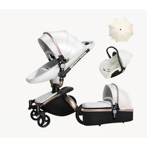 CHARIOT DE MARCHÉ Luxe bébé poussette 3 en 1 haute land-scape mode c