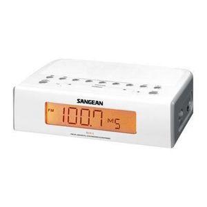 Radio réveil SANGEAN RCR5W Radio réveil numérique Atomic - Blan