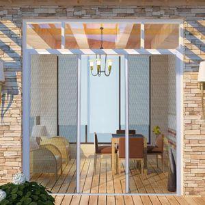 Moustiquaire Moustiquaire Fenêtre 2 km Serrage Cadre Fibre De Verre Protection Insectes