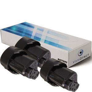 Lot de 3 batteries pour AEG BWS12CBWS scie sauteuse 2000mAh 12V