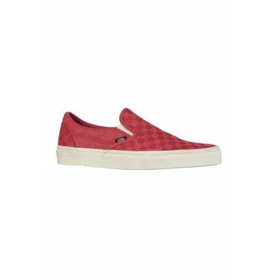 Baskets Classic Slip On Vans Rouge Delave Rouge - Cdiscount Chaussures