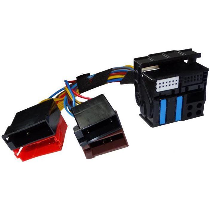 Aerzetix: Adaptateur faisceau câble fiche ISO pour autoradio navigation RNS-E Audi A3 A4 A6 C12064