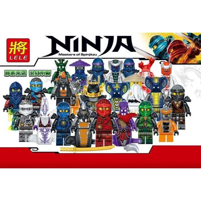 24pcs-lot Plastique Mini Ninjago Figurine Jouet Petites Particules Ninja Serpents Phantoms Pirates