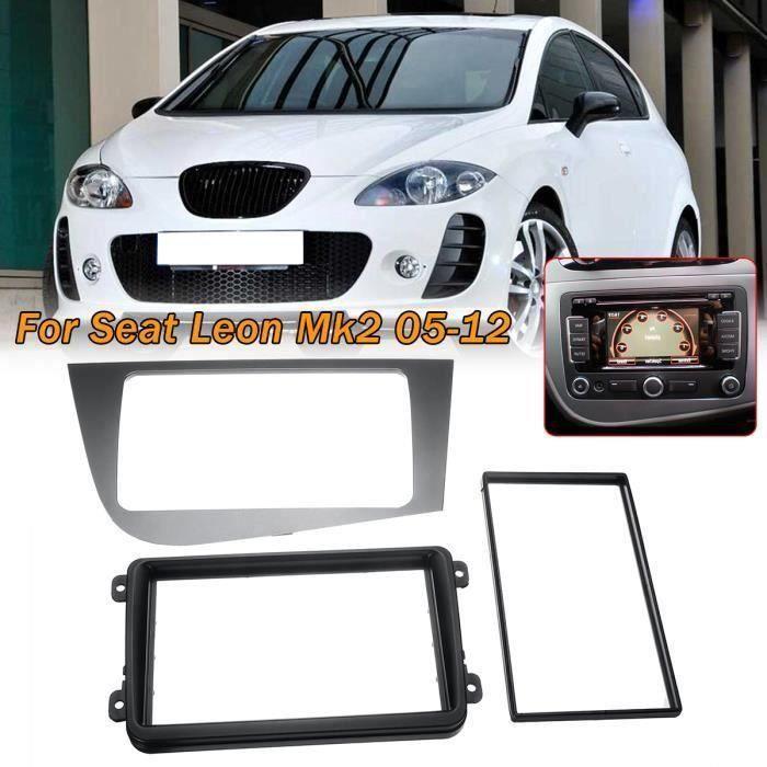 Autoradio Fascia Kit Outils Adaptateur De Montage Panneau Façade Pour Seat Leon 05-12 Mk2