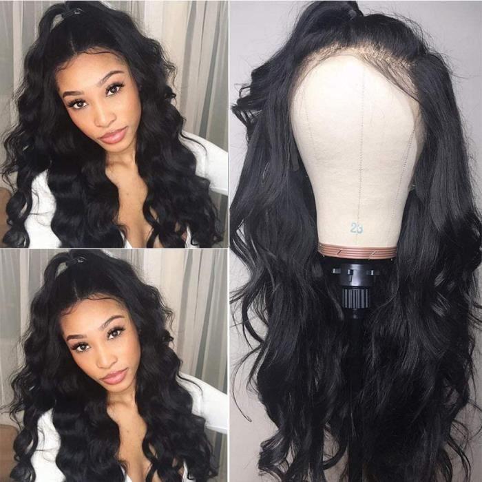 Lady wig 360 Dentelle Frontale Perruques Body Wave Dentelle Frontale Perruques de Cheveux Humains pour Femmes Naturel Barré av[896]