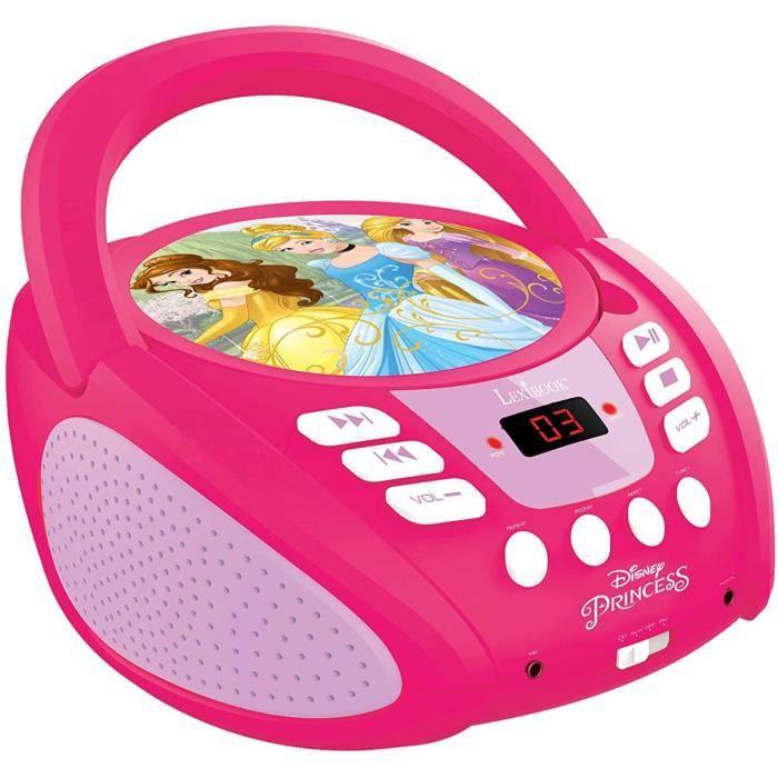 Lexibook Disney Princesses Radio lecteur CD,Entrée line-in, Pile ou Secteur, Rose/Blanc, RCD108DP_10