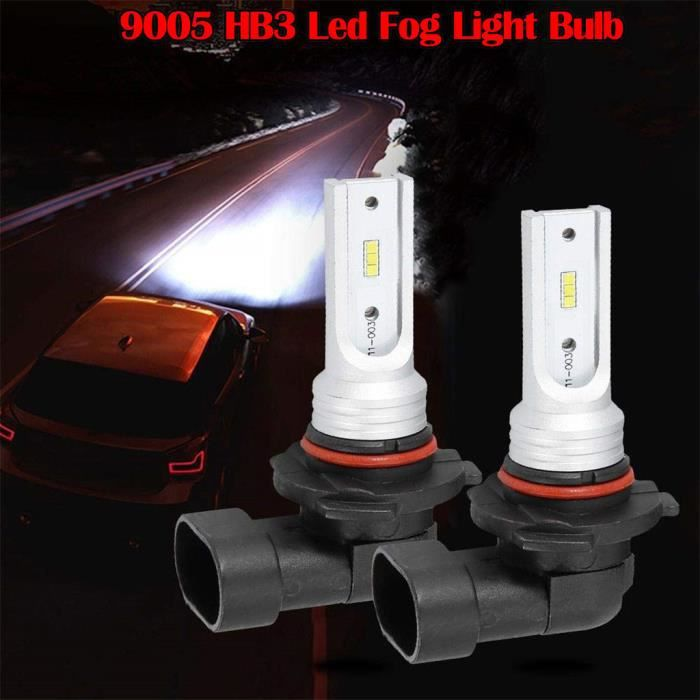 Ampoule antibrouillard 9005 HB3 LED haute puissance CSP-Y11 blanc froid 6000K (paquet de 2) N134