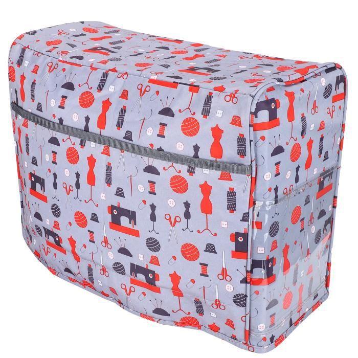 Sac de machine à coudre en tissu 600D Oxford, sac de rangement avec poches latérales en maille étui de transport pour machine à