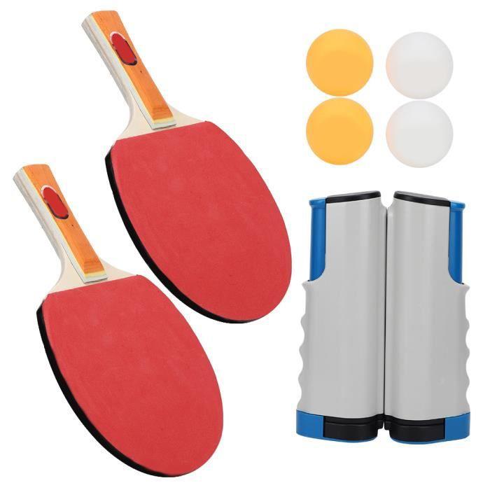 VGEBY Balle de ping pong Tennis de table Set Portable Télescopique Net Rack Raquettes Ping Pong Balls Accessoires de