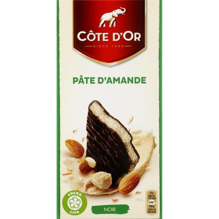 Côte d'Or fourrés fins Noir Pâte d'Amande 150g