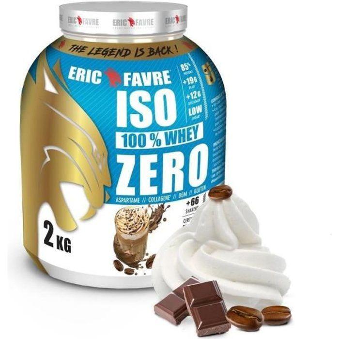 ISO WHEY ZERO 100% Pure Whey Protéine Isolate (Capuccino) - Prise de Masse - 2kg - Laboratoire Français Eric Favre