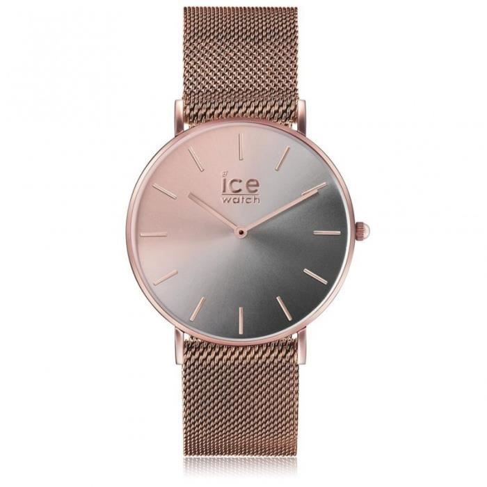 Ice Watch Montre Femme City Sunset Milanaise Smoky