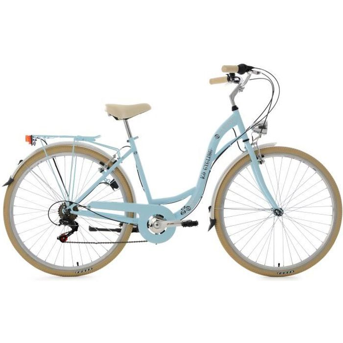 Vélo de ville dame 28'' Casino bleu clair 6 vitesses TC 48 cm KS Cycling