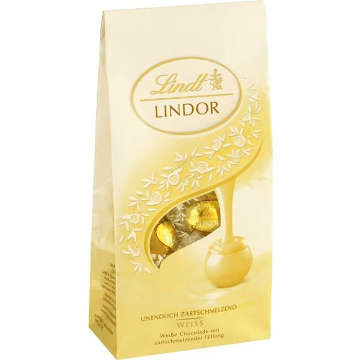Lindt Lindor boules blanches Pralines 3 x 136g