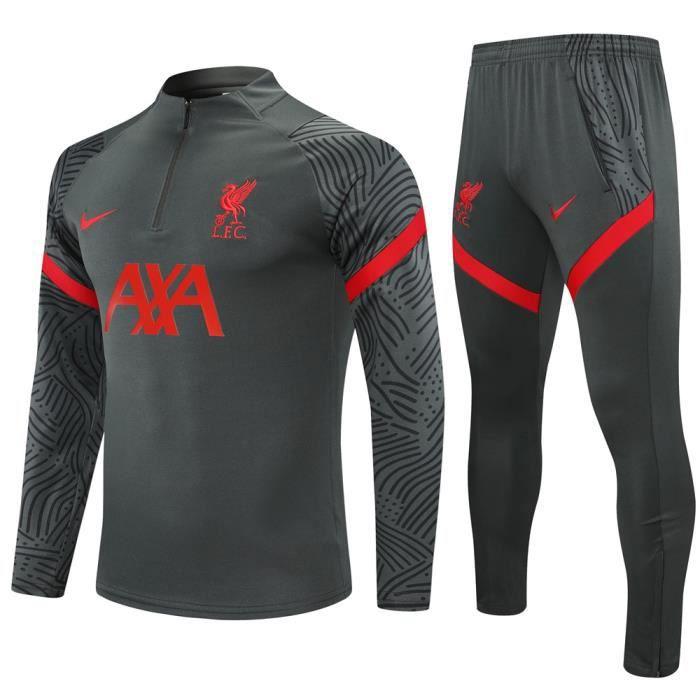 Maillot Liverpool - Maillot Foot Enfants Garçon Homme 2020-2021 Survêtements Foot Maillot de Foot(Haut + Pantalon)