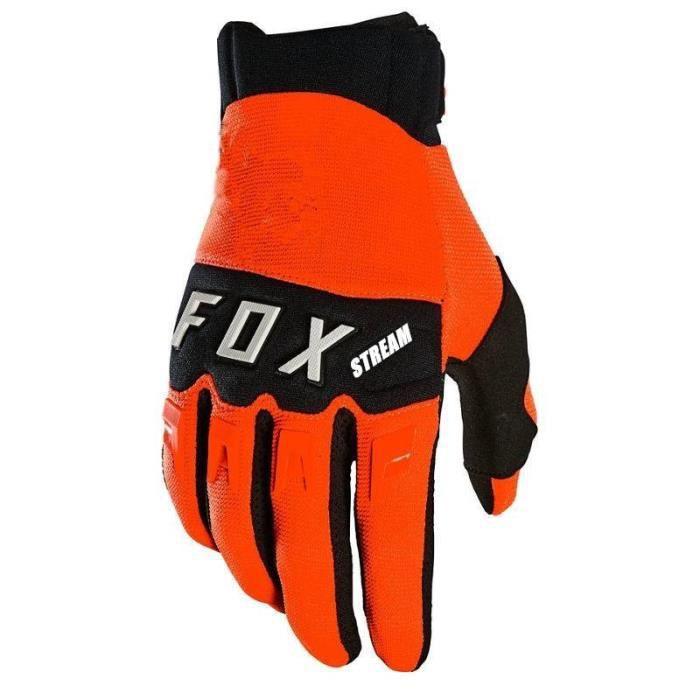 Gants,2021 Stream Fox moto cross gants bmx ATV Moto gants hors route vélo gants de VTT Moto rcycle gants - Type Orange - M