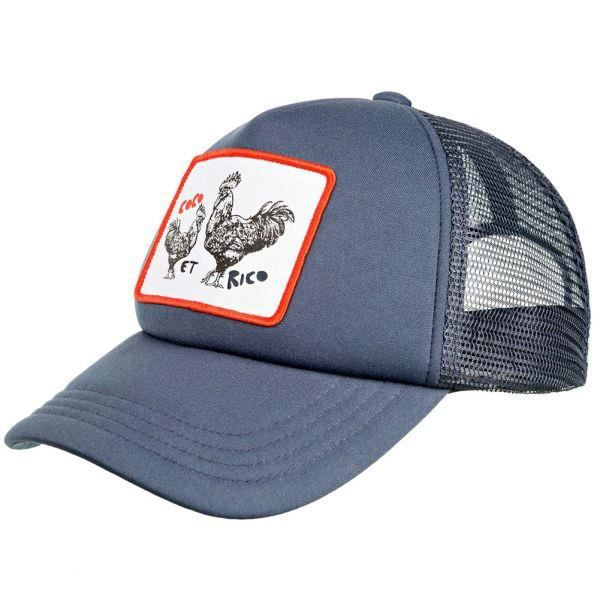 PULL IN Casquette Homme Microfibre TRUCKCOCO Marine Blanc