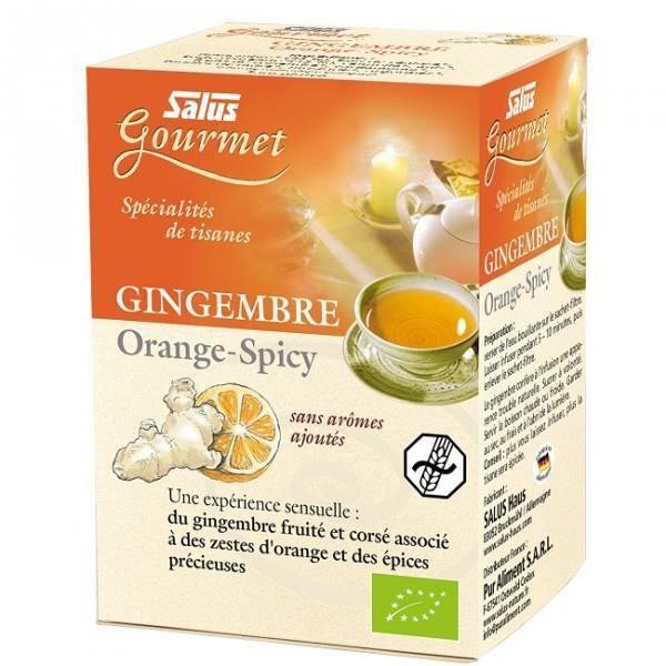 Tisanes Gourmet Gingembre Orange-Spicy - 15 sac…