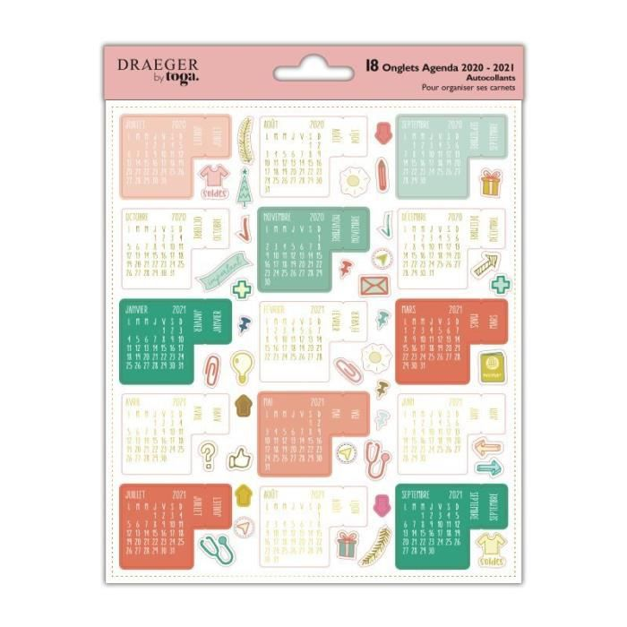 Stickers d'organisation calendrier