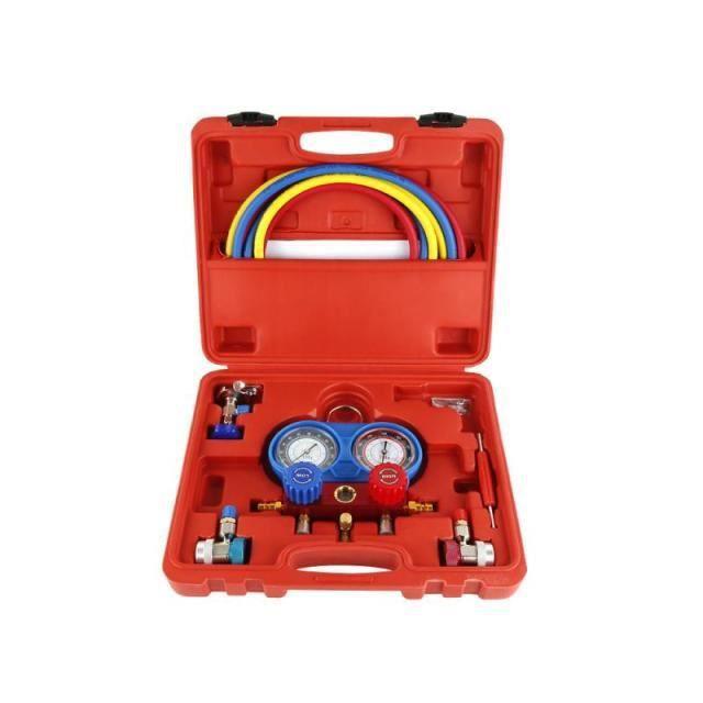 SK41133-Manomètre de pression de climatisation de voiture. Kit de tuyau pour R134A R12 R22 R502. ensemble de manomètre de pression